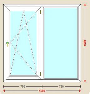 پنجره یو پی وی سی دوحالته