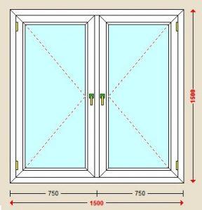 پنجره دولنگه یو پی وی سی