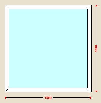 پنجره دوجداره یو پی وی سی ثابت