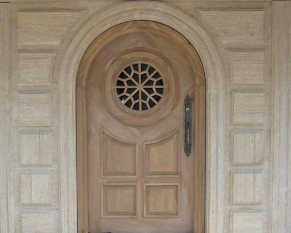 درب دوجداره چوبی