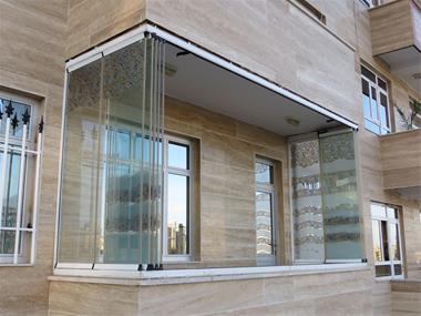 کاربرد شیشه در بالکن ساختمان خرید در مازندران