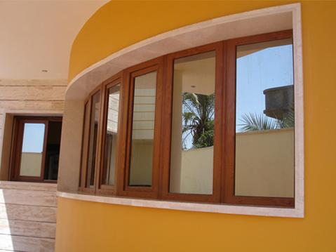 پنجره یو پی وی سی رنگ چوب