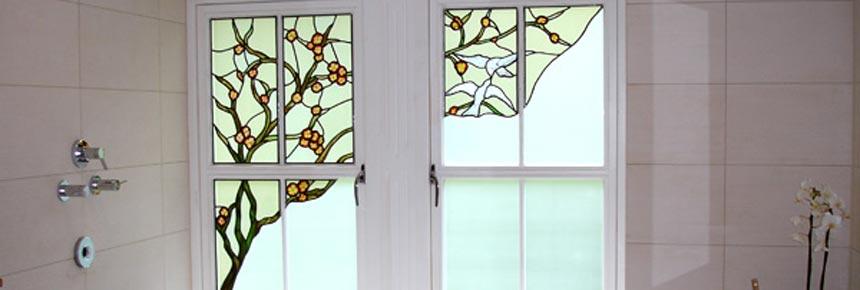 پنجره دوجداره طرح دار